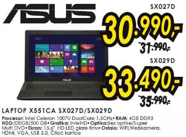 Laptop X551CA SX029D