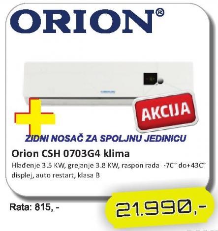Klima Orion CSH 0703G4