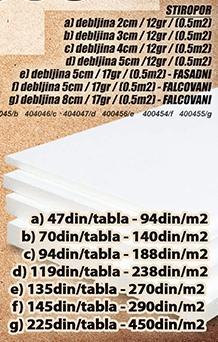 Stiropor 5cm 17gr Falcovani