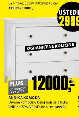 ANNIKA KOMODA SA 4 FIOKE