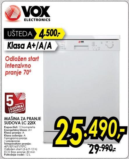 Mašina za pranje sudova Lc22ix