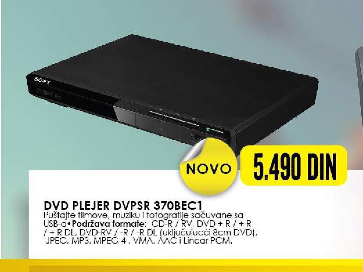 DVD plejer DVP-SR370BEC1