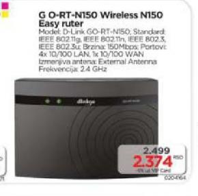 Bežični ruter G O-RT-N150