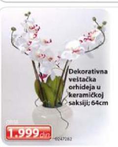 Dekorativna veštačka orhideja