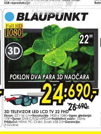 Televizor LED LCD TV 22 FHD