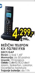 Bežični telefon KX TG7851FXB