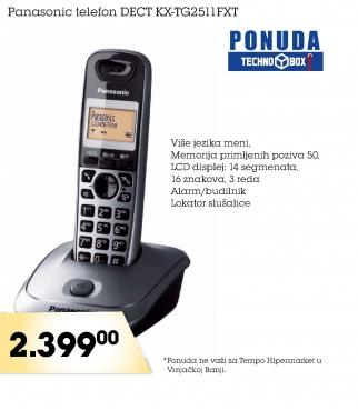 Bežični telefon DECT KX-TG2511FXT