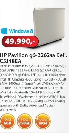 Laptop g6-2262sa C5J48EA