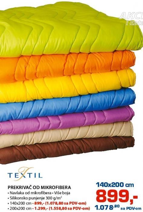 Prekrivač od Mikrofibera 200x200 Textil