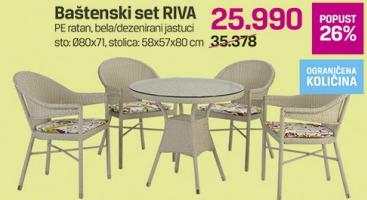 Baštenski set Riva