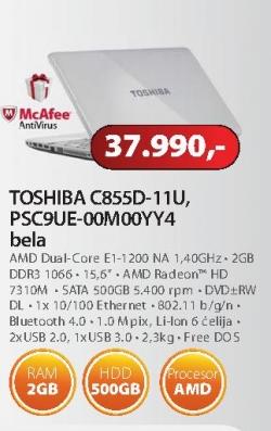 Laptop Satellite C855D-11U, PSC9UE-00M00YY4