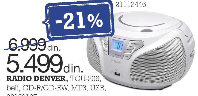 Radio CD TCU-206