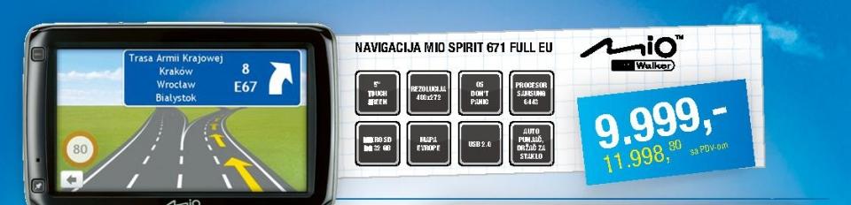 Auto navigacija Spirit 671 FEU