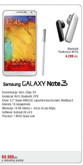 Telefon mobilni Galaxy  Note3