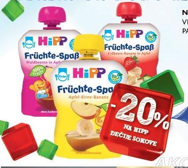 20% popusta na Hipp dečije sokove