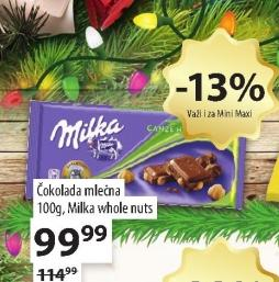 Čokolada whole nuts