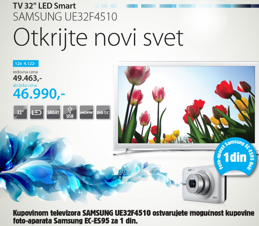 Televizor LED Smart  UE32F4510 White