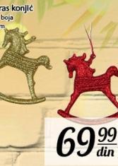 Novogodišnji ukras konjić