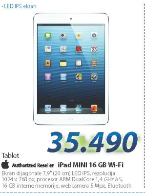 Tablet iPad mini, 16GB Wi-Fi