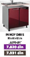 Kuhinjski element IN MDF D80 S bordo sjaj