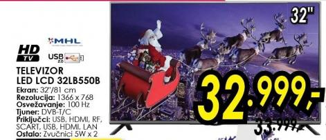 """Televizor LED 32"""" 32lb550b"""
