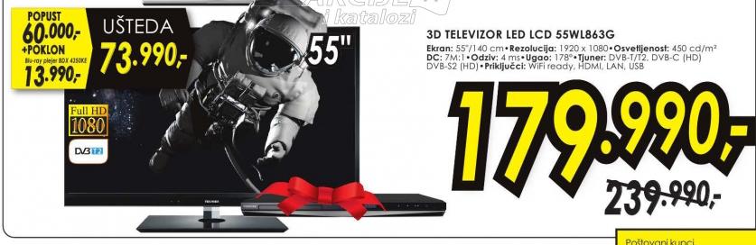 Televizor 3D LED 55WL863G