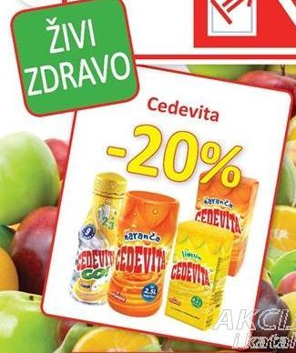 20% popusta na Cedevita proizvode