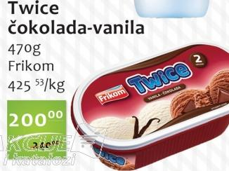 Sladoled vanila i čokolada
