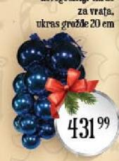 Novogodišnji ukras grožđe
