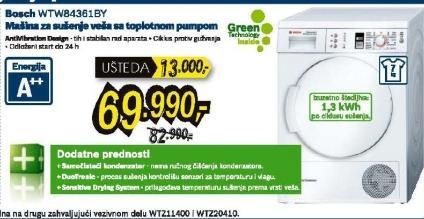 Mašina za sušenje veša WTW84361BY