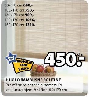 Bambusne roletne Huglo 100x170 cm