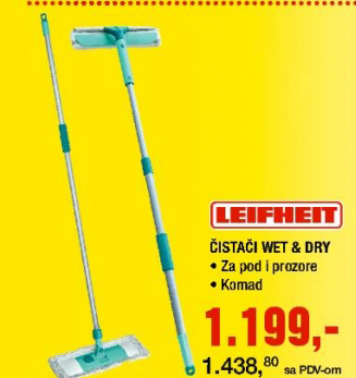 Čistači Wet&Dry,  Leifheit