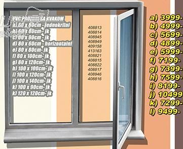 Prozor PVC sa kvakom 120x120 jk