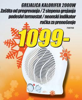 Grejalica Kalorifer 2000W