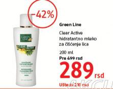 Hidratantno mleko za čišćenje lica Clear active