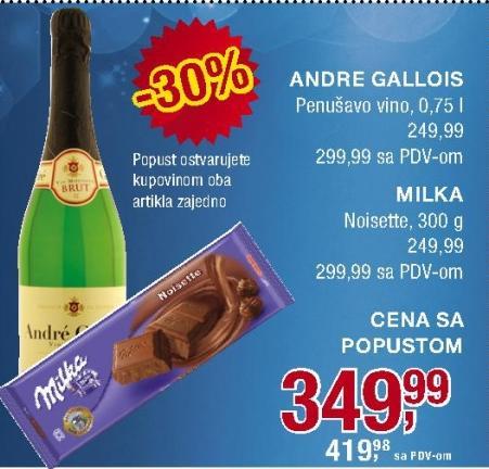 Penušavo vino Andre Gallois
