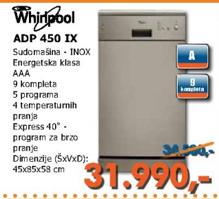 Adp 450 Ix Sudomašina