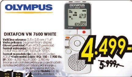 Diktafon  VN-7600  WH