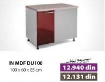Kuhinjski element In Mdf Du100 Moka