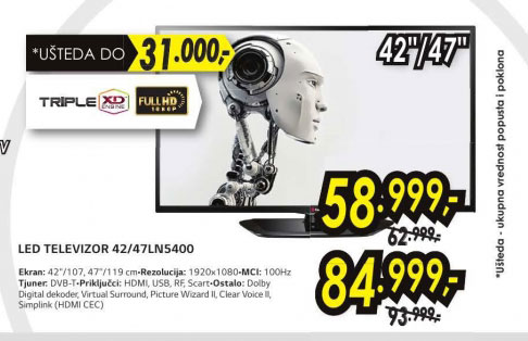 Televizor LED LCD 47LN5400