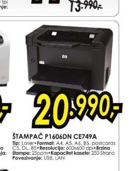 Laserski štampač P 1606DN CE749A