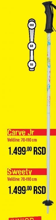 Štapovi za skije Carve Jr.