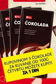Akcija čokolada za kuvanje