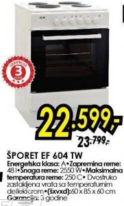 Električni šporet Ef 604 Tw