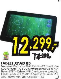 Tablet XPAD 83