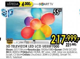 "Televizor LED 55"" Ue55f7000"