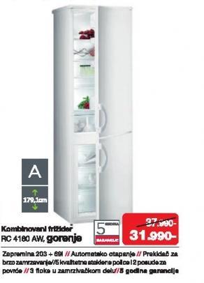 Kombinovani frižider Rc 4180 Aw