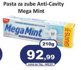 Pasta za zube Mega mint