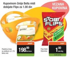 Bella midi plastična činija sa uloškom 1,75 l