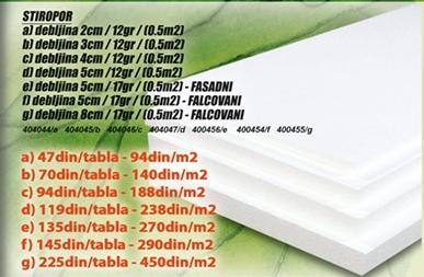 Stiropor 2cm /12 g